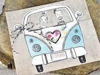 Invitación de boda furgoneta 39316 Impresión GRATIS