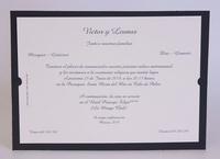 Invitación de boda medio tarjetón 100709