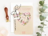 Invitación de boda passport 39701