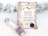 Invitación de boda pergamino vintage