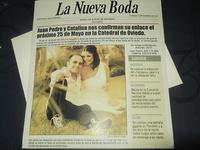 Invitación de boda periódico Ref.20005 Impresión GRATIS