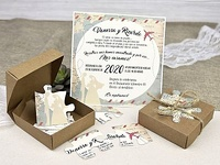 Invitación de boda puzzle del mundo 39639