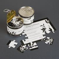 Invitación de boda puzzle lata pequeña Ref.333815311