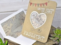 Invitación pasaporte boda 39315 Impresión GRATIS