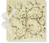 Libro de firmas beis y marrón Ref.700.004