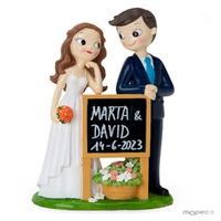 Novios tractor blanco