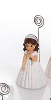 Regalo de comunión de pinza niña con un rosa Ref.1232 Etiquetas GRATIS