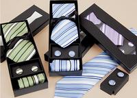 Set de corbata, gemelos y pañuelo